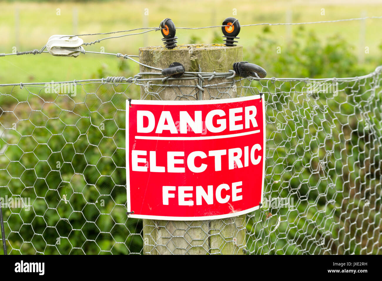 Low Voltage Stock Photos Images Alamy Electric Fence Tester Circuits Danger Sign On A Image