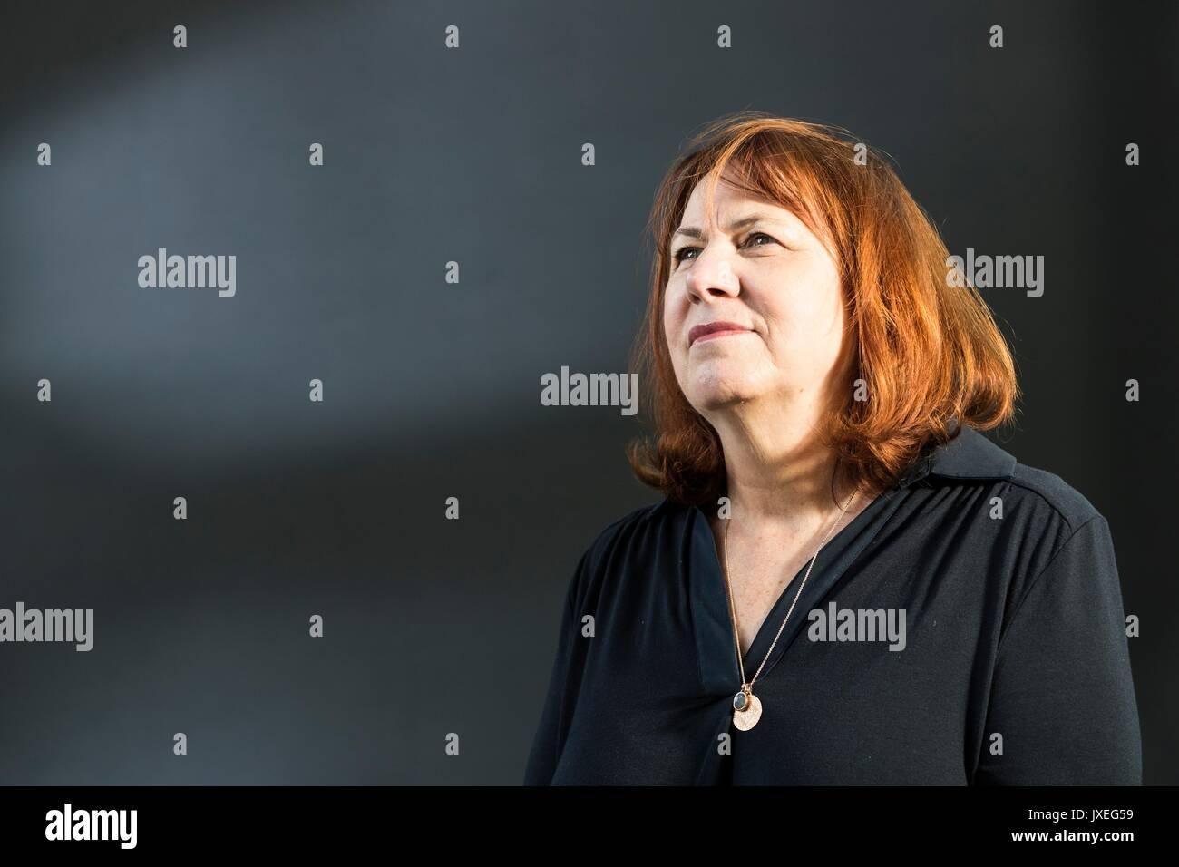 Edinburgh, UK. 16th Aug, 2017.  Linda Grant appearing at the Edinburgh International Book Festival Linda Grant is Stock Photo