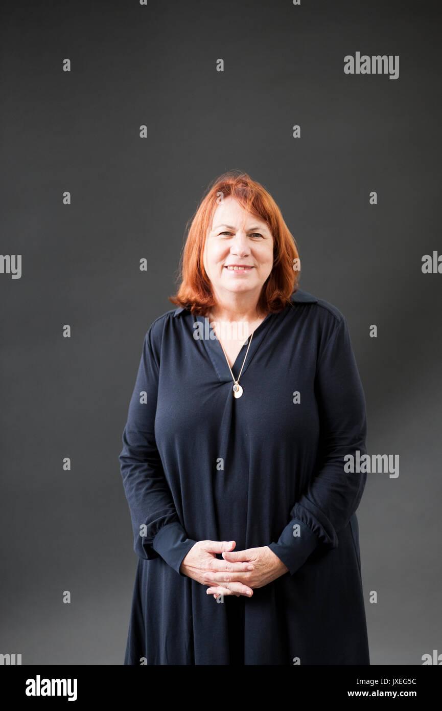 Edinburgh, UK. 16th Aug, 2017. Linda Grant novelist and journalist appearing at the Edinburgh International Book Festival Credit: Lorenzo Dalberto/Alamy Live News - Stock Image