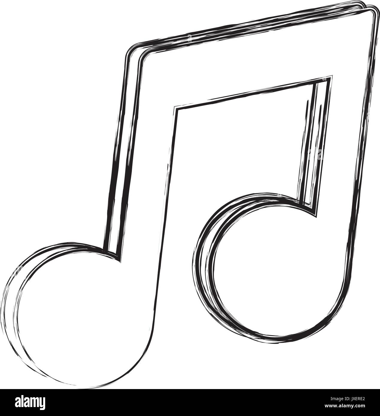 Music Note Symbol Icon Vector Stock Vector Images Alamy