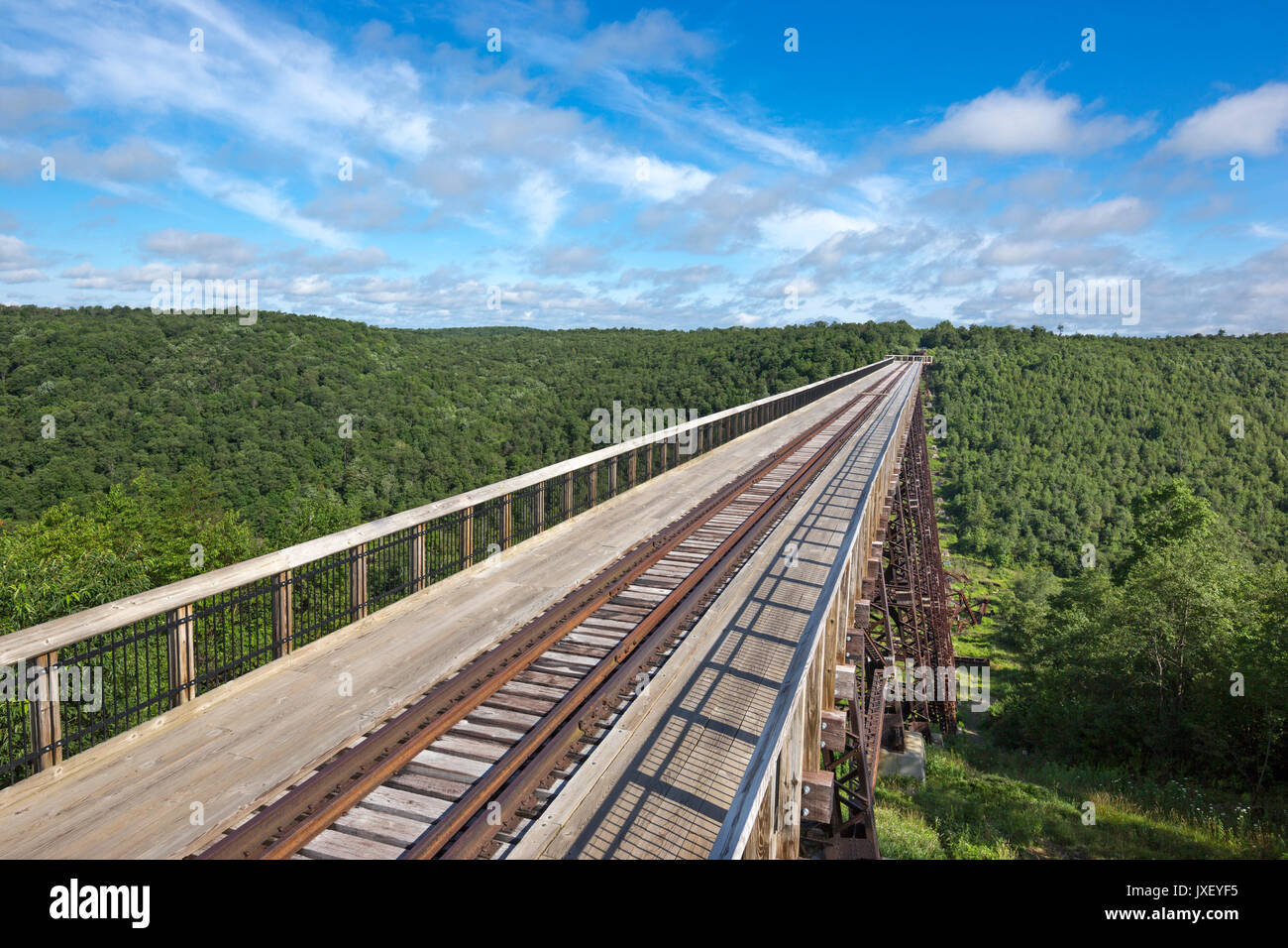 KINZUA VIADUCT SKYWALK MOUNT JEWETT MCKEAN COUNTY PENNSYLVANIA USA - Stock Image
