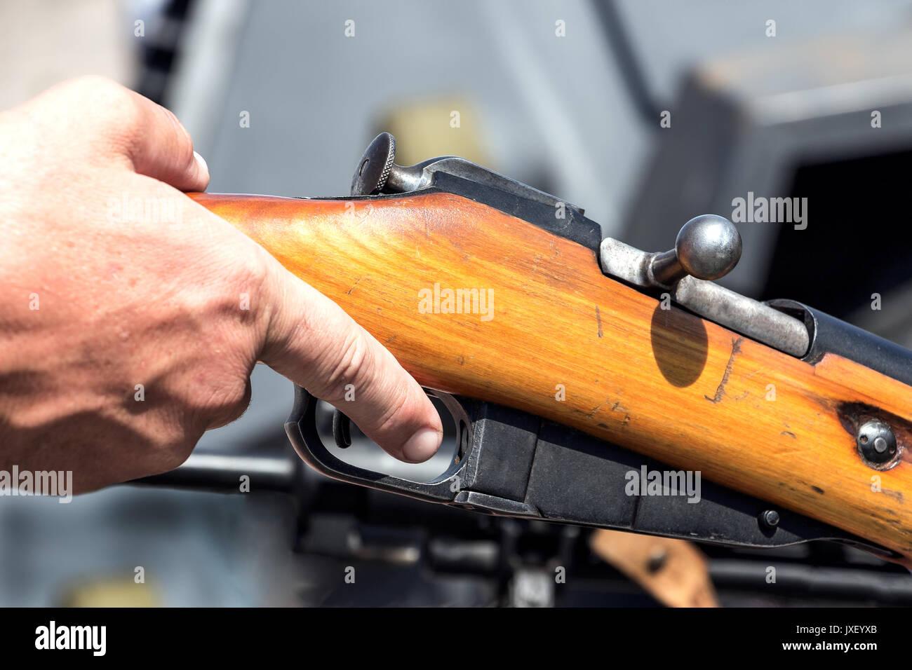 Finger on the trigger - Stock Image