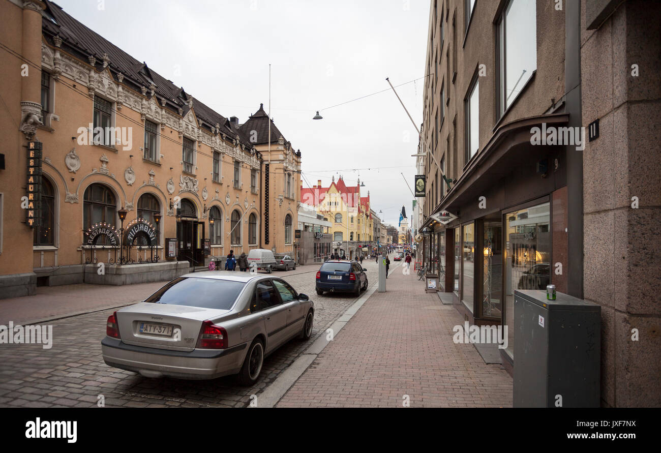Street View in Tampere Stock Photo