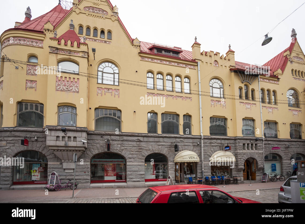 Jugend style building in tampere - Stock Image