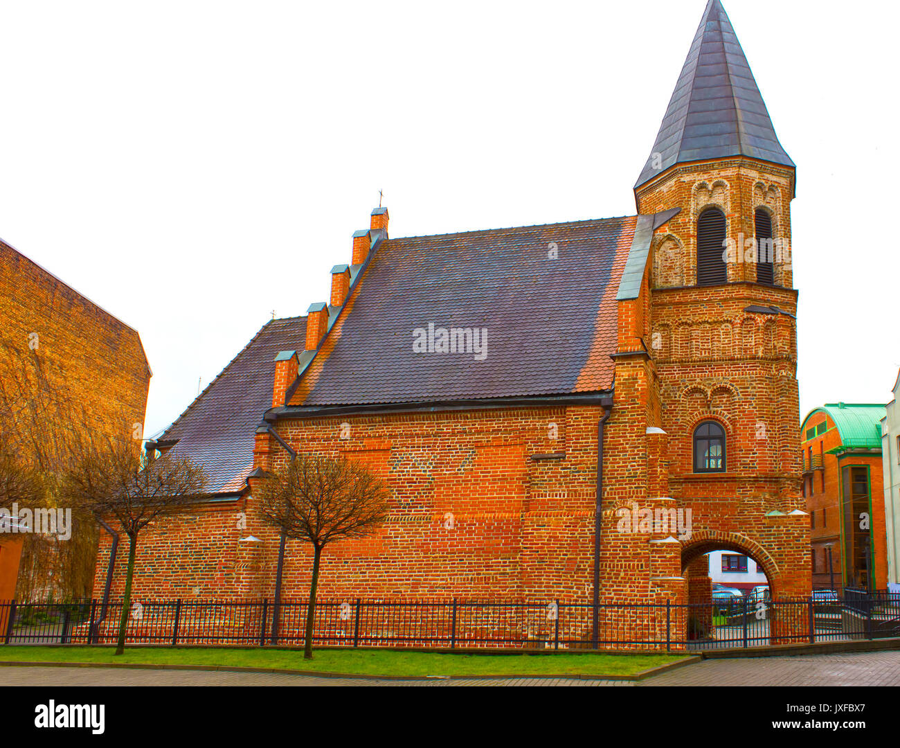 Catholic church of St. Gertrude at Kaunas, Lithuania - Stock Image