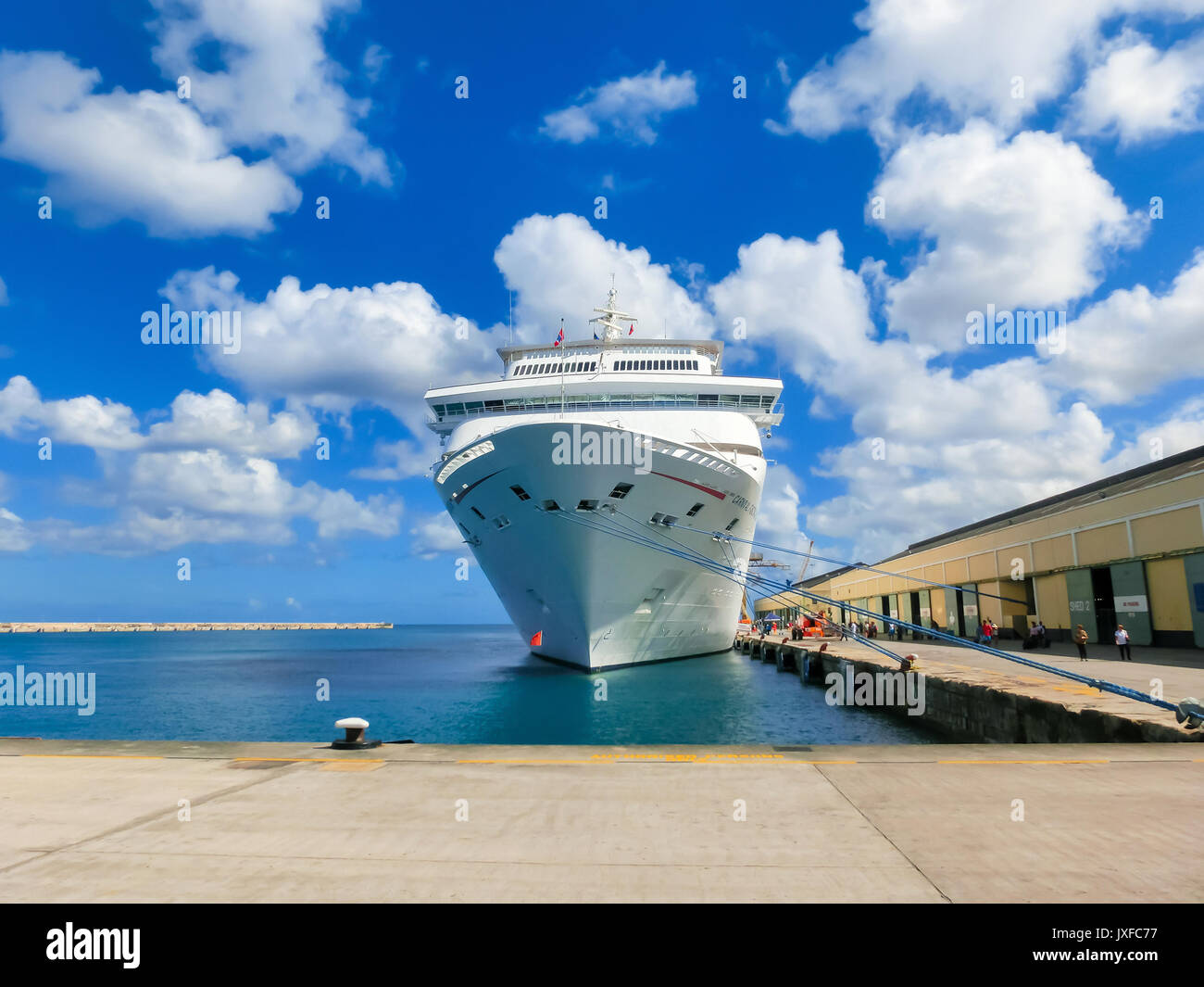 Barbados - May 11, 2016: The Carnival Cruise Ship Fascination at dock - Stock Image