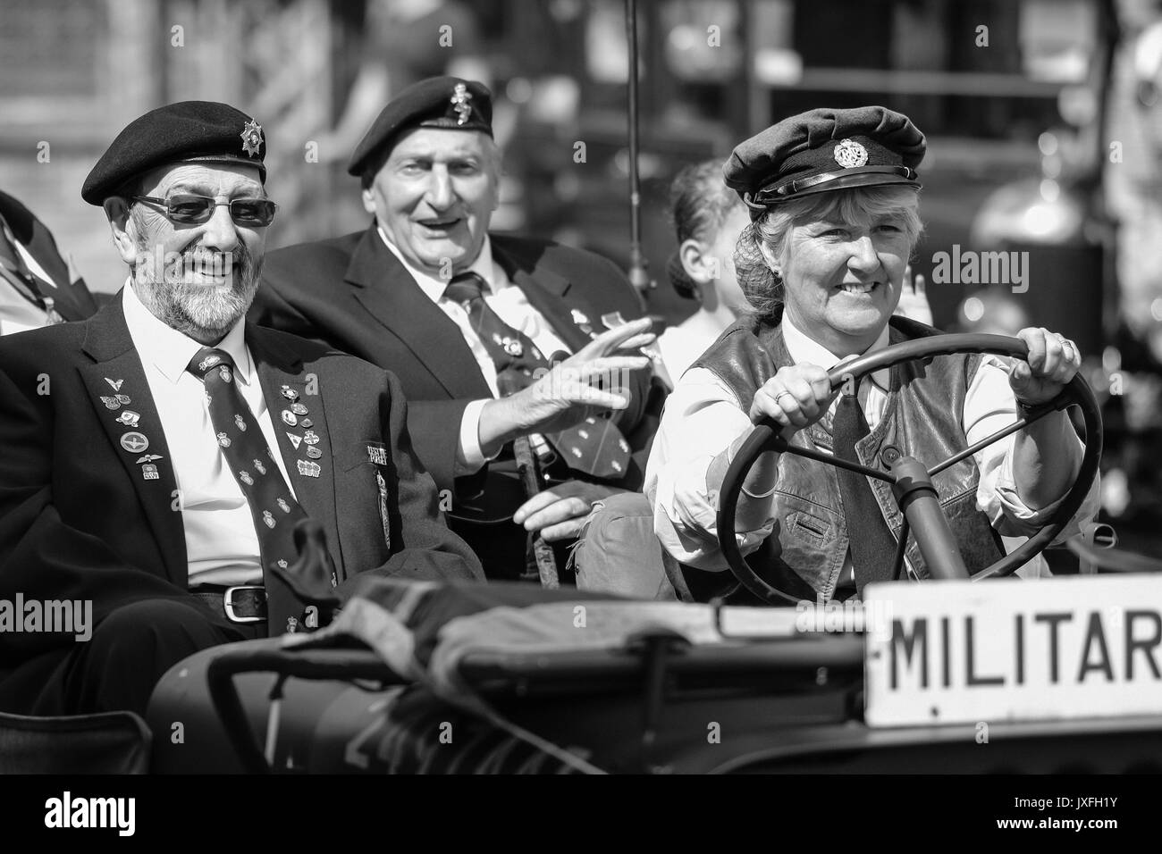 1940s Event, National Tramway Museum, Crich, August 2017 - Stock Image