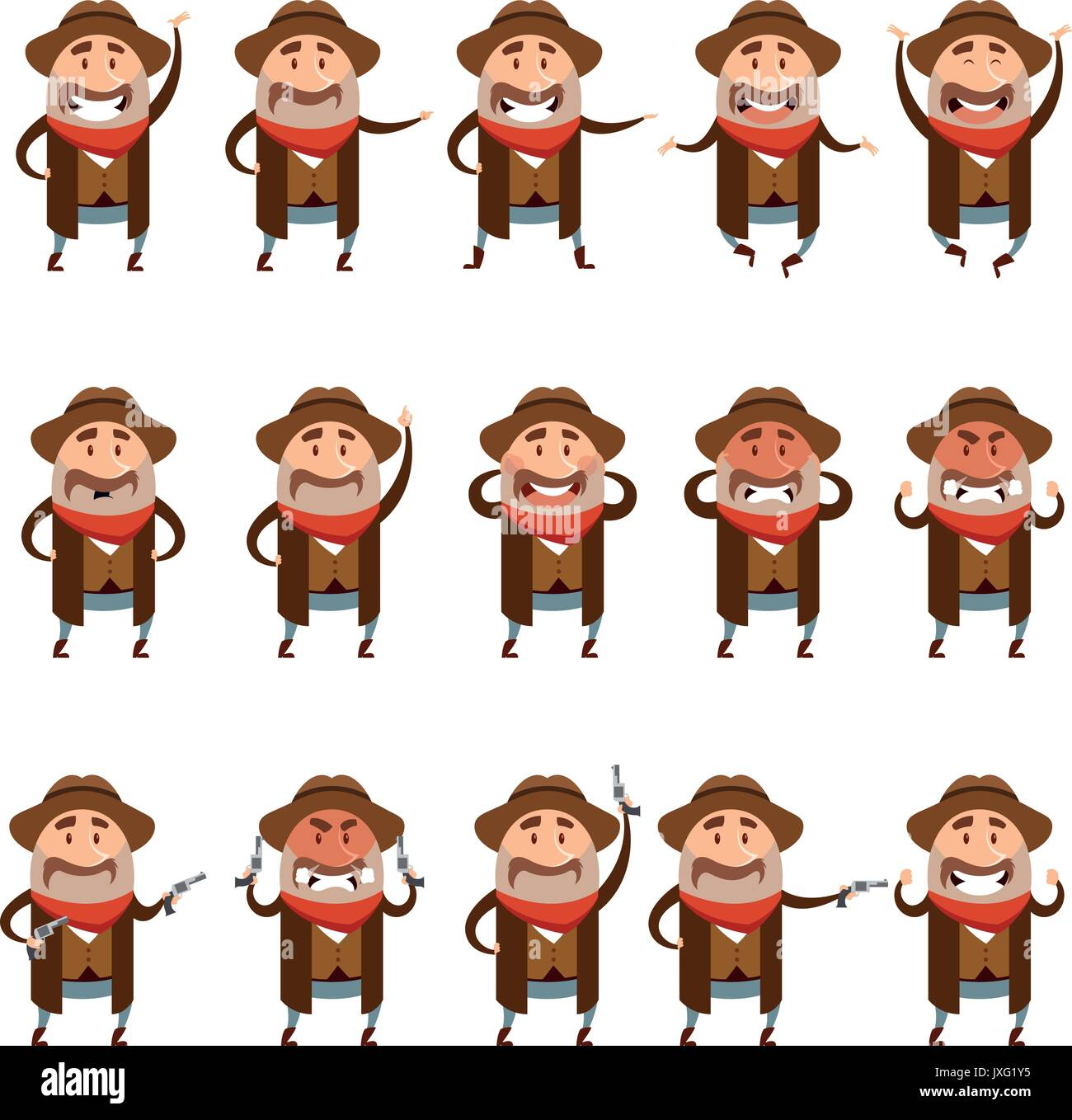 Cowboy Costume Stock Vector Images