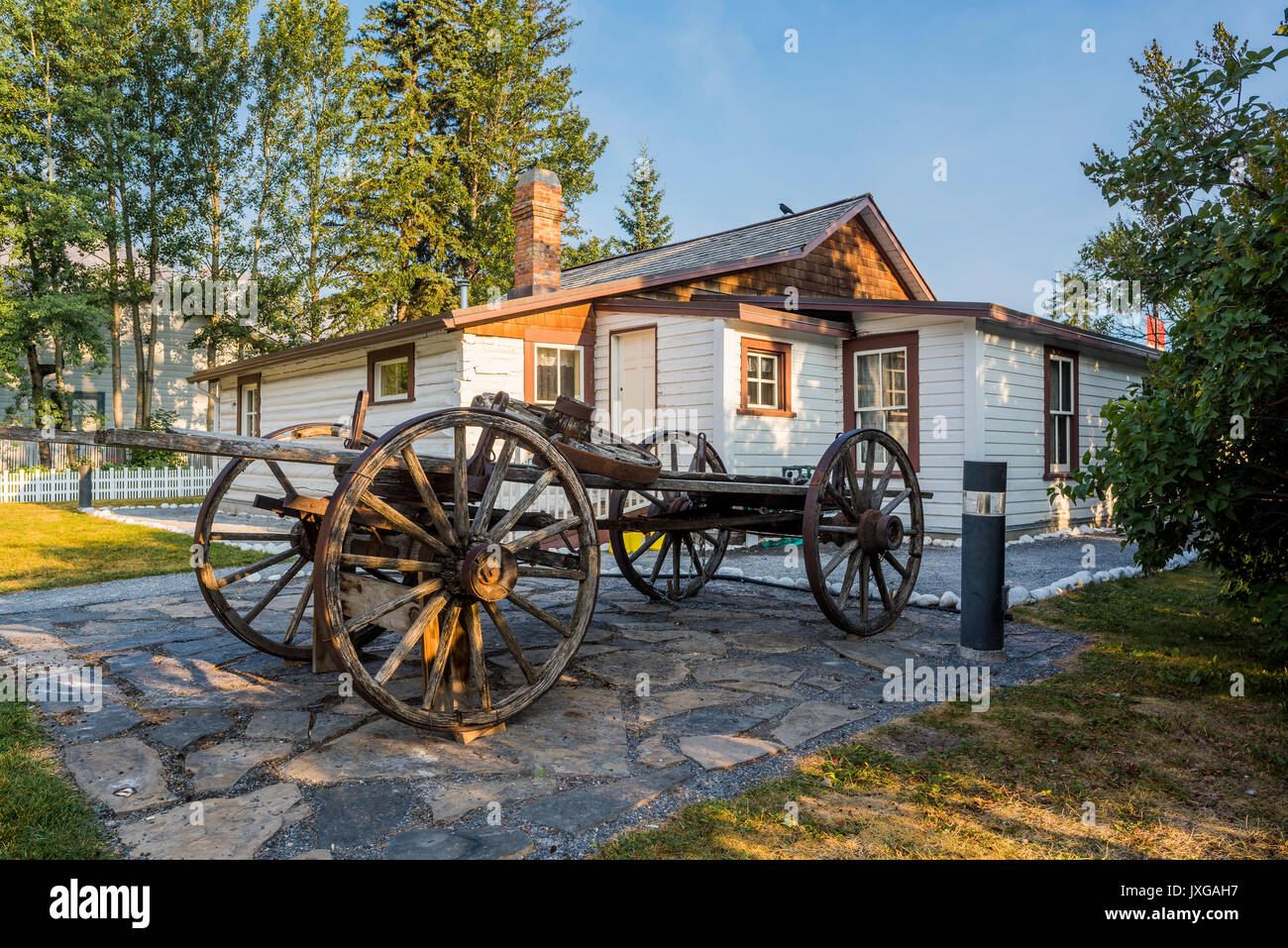 Northwest Mounted Police Barracks, Canmore, Alberta, Canada - Stock Image