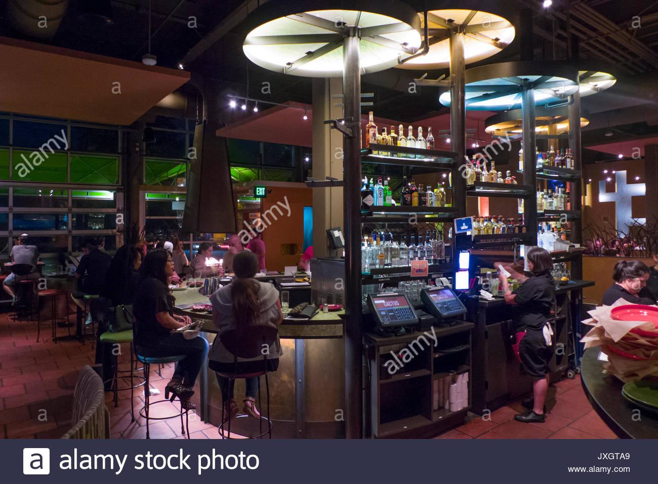 Patrons Dining Inside Cactus Alki Beach Restaurant Alki Seattle