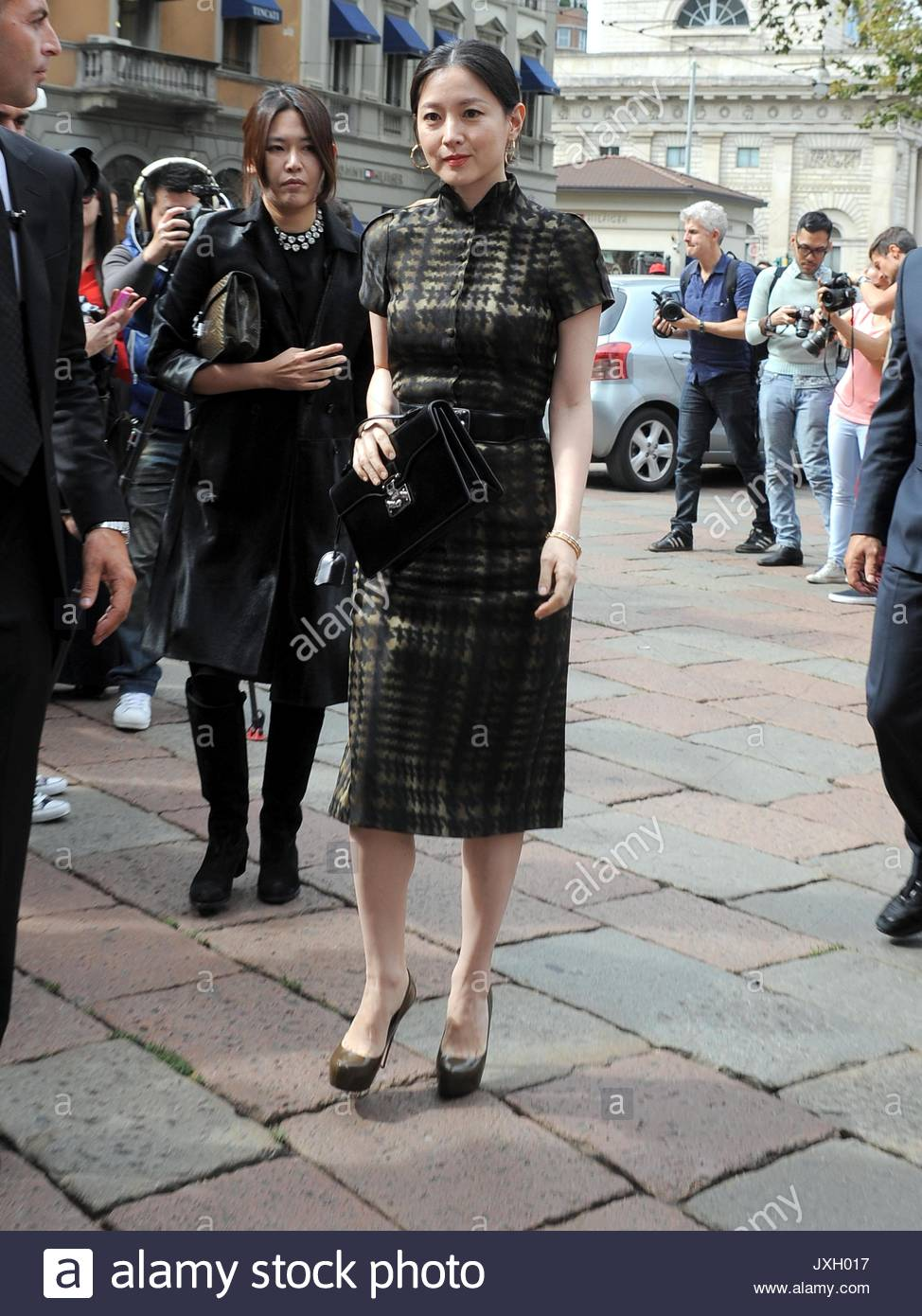 lee young ae arrivals at the gucci show for milan fashion week