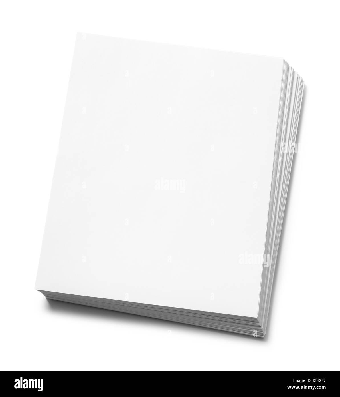 Pile of Copy Paper Isolated on White Background. - Stock Image
