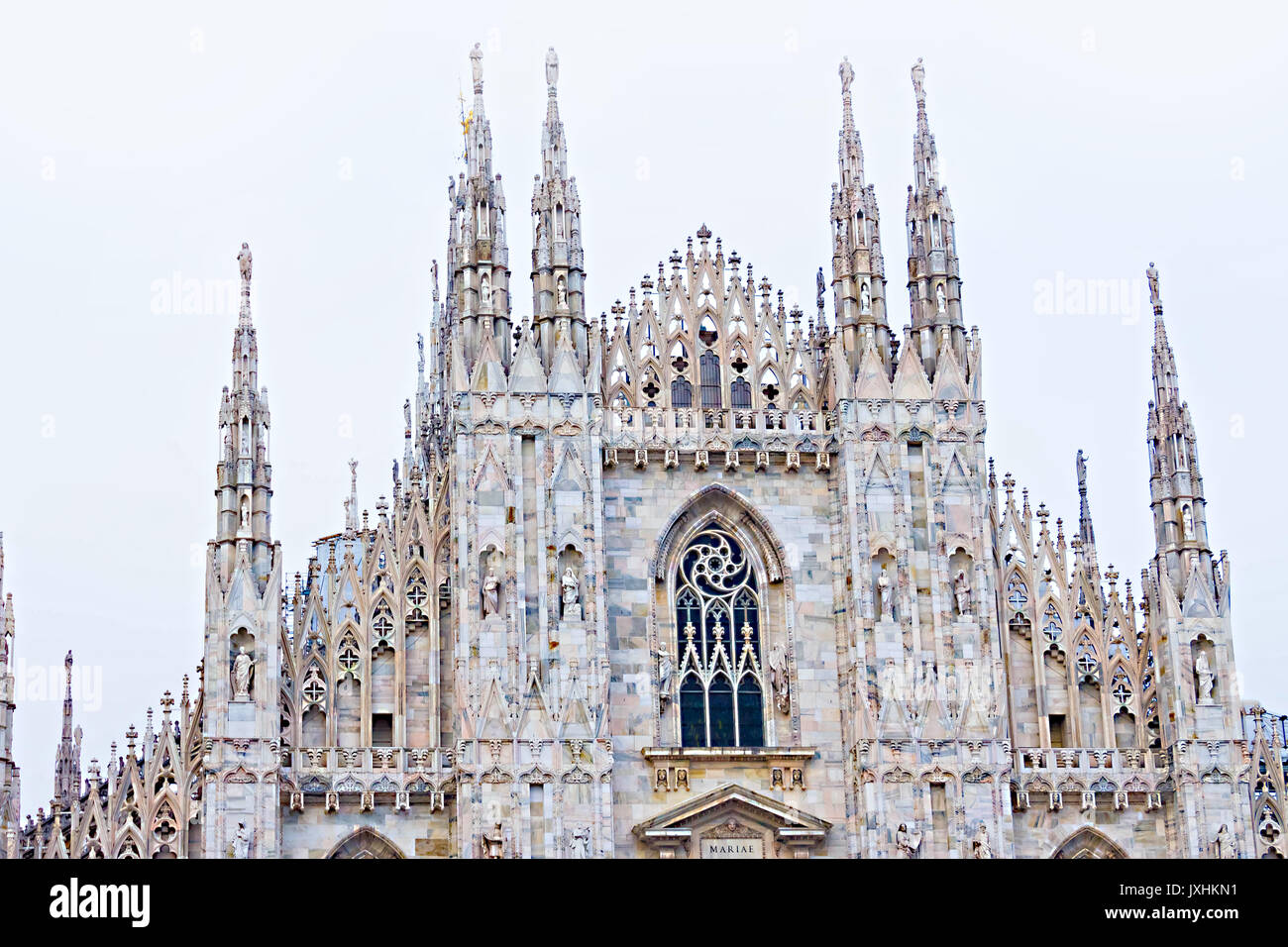 The day view of Milan Cathedral or Duomo di Milano - Stock Image