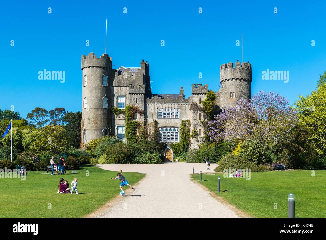 Malahide Castle and Gardens, Dublin, Ireland - Stock Image