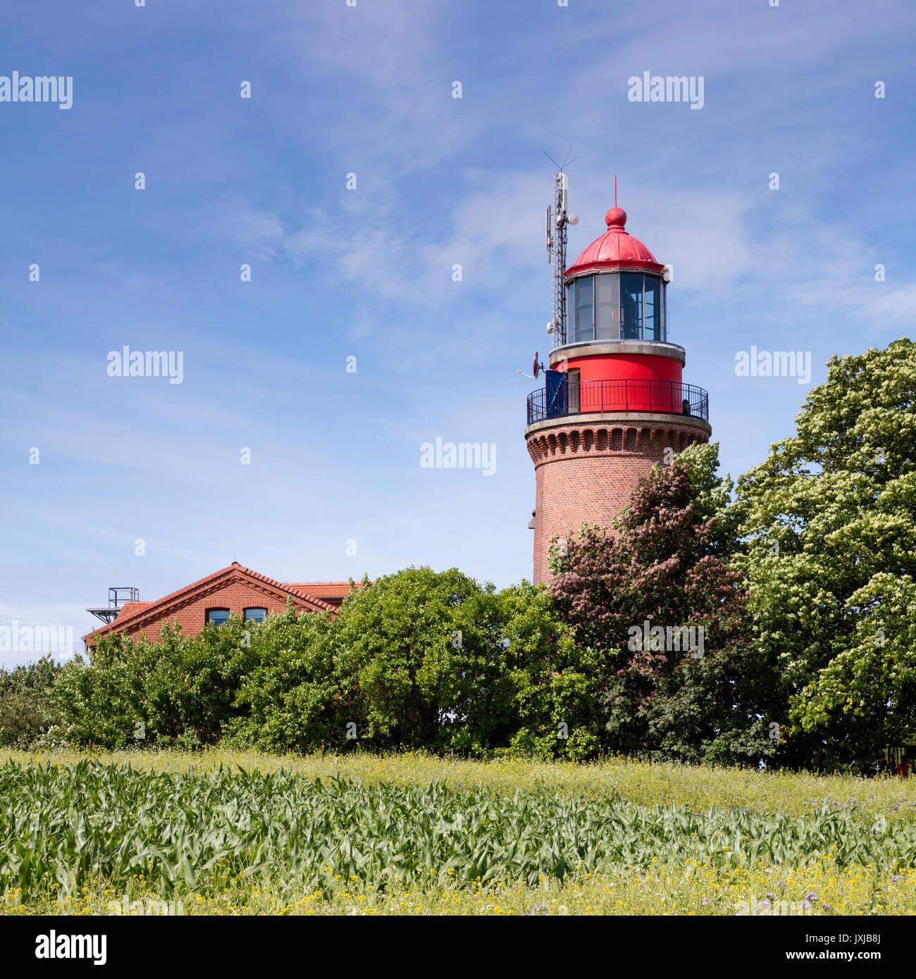 Bastorfer lighthouse, Bastorf, Ostseebad Kühlungsborn, Mecklenburg-Vorpommern, Germany, Europe - Stock Image