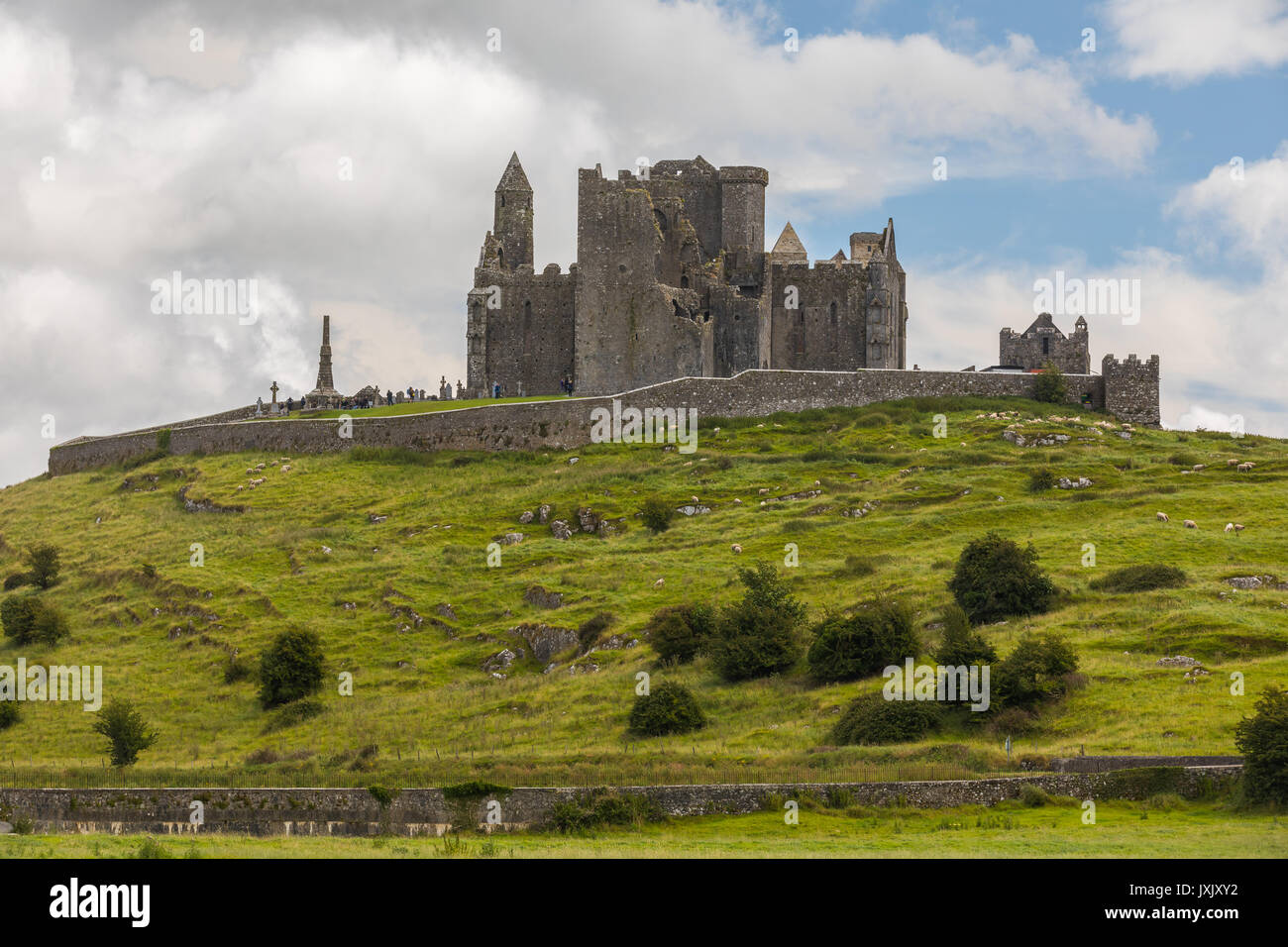 The Rock of Cashel, also known as Cashel of the Kings and St. Patrick's Rock, is a historic site located at Cashel, County T - Stock Image