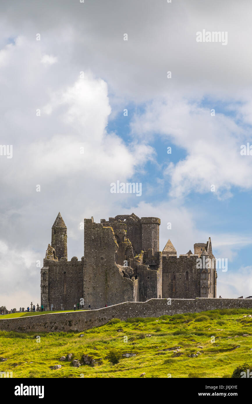 The Rock of Cashel, also known as Cashel of the Kings and St. Patrick's Rock, is a historic site located at - Stock Image