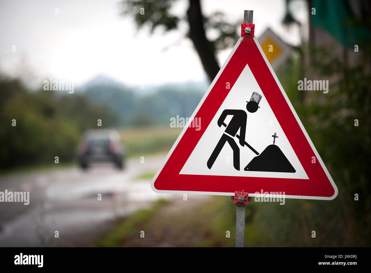 Funny Road Signs - Stock Image