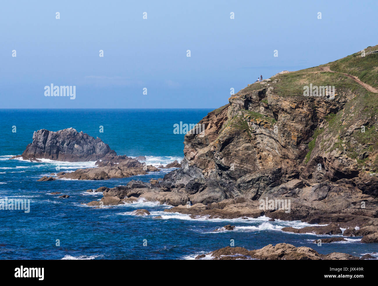 Around Lizard Point and Polpeor Cove, The Most Southerly Point of Britain. Cornwall UK Izard Point Stock Photo