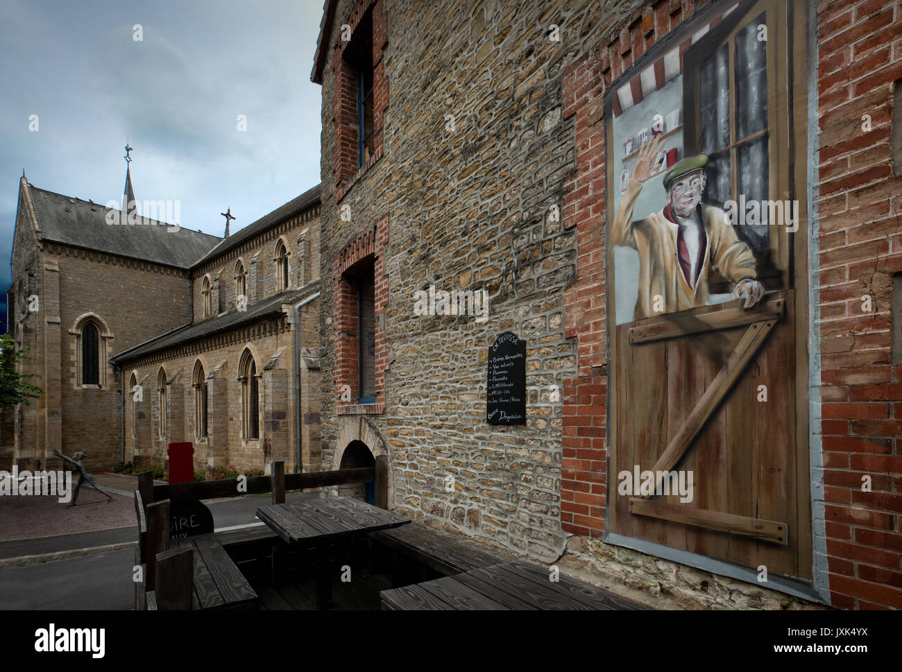 Clecy,Calvados,Normandy,France. August 2017 Clecy a small town in the Suisse Normande (Swiss Normandy ) area of - Stock Image