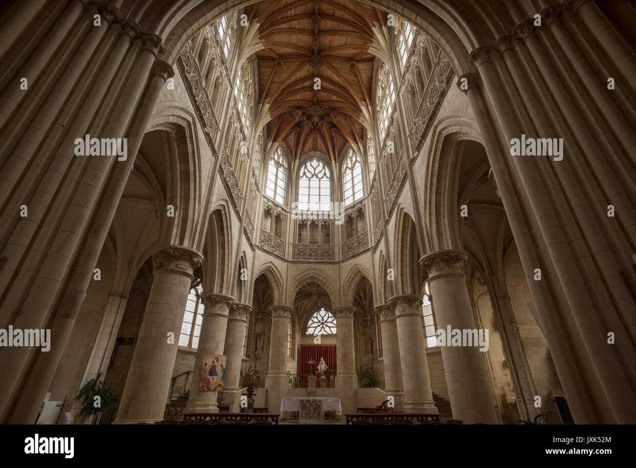 Falaise,Calvados,Normandy,France. Church of the Holy Trinity. Aug 2017 The Church of the Holy Trinity in Falaise - Stock Image