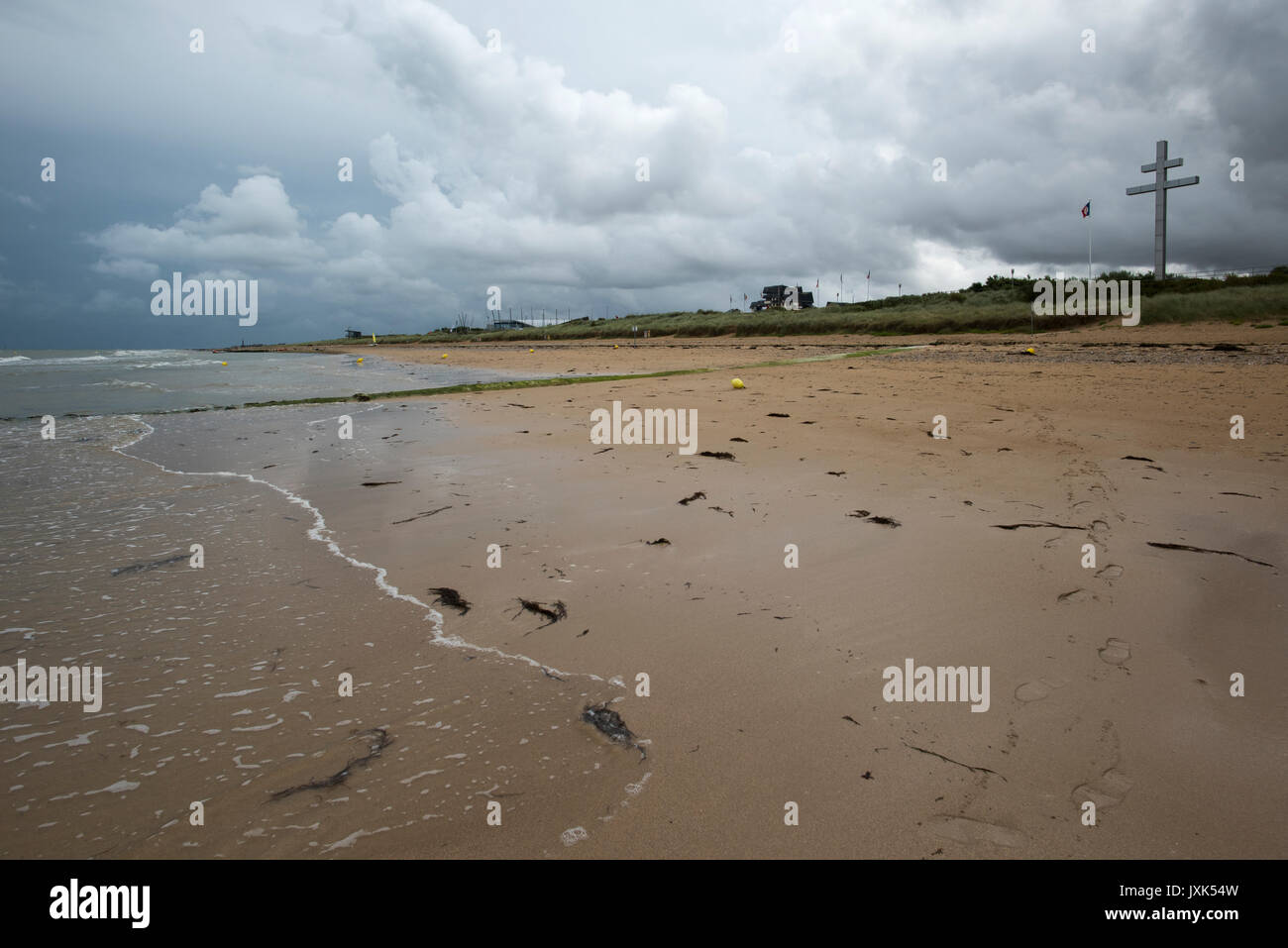 Juno Beach, Courseulles sur Mer, Normandy France. August 2017 On the 6th of June 1944 Allied forces, mainly British, - Stock Image