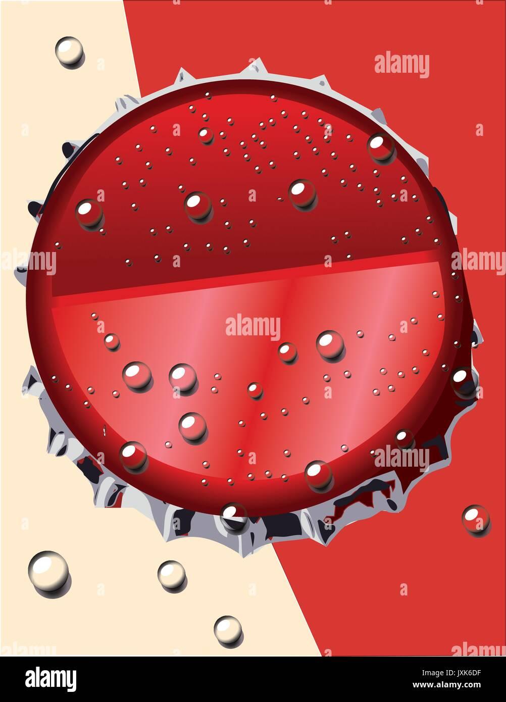 Coca col cover bottle drink vector illustration - Stock Vector