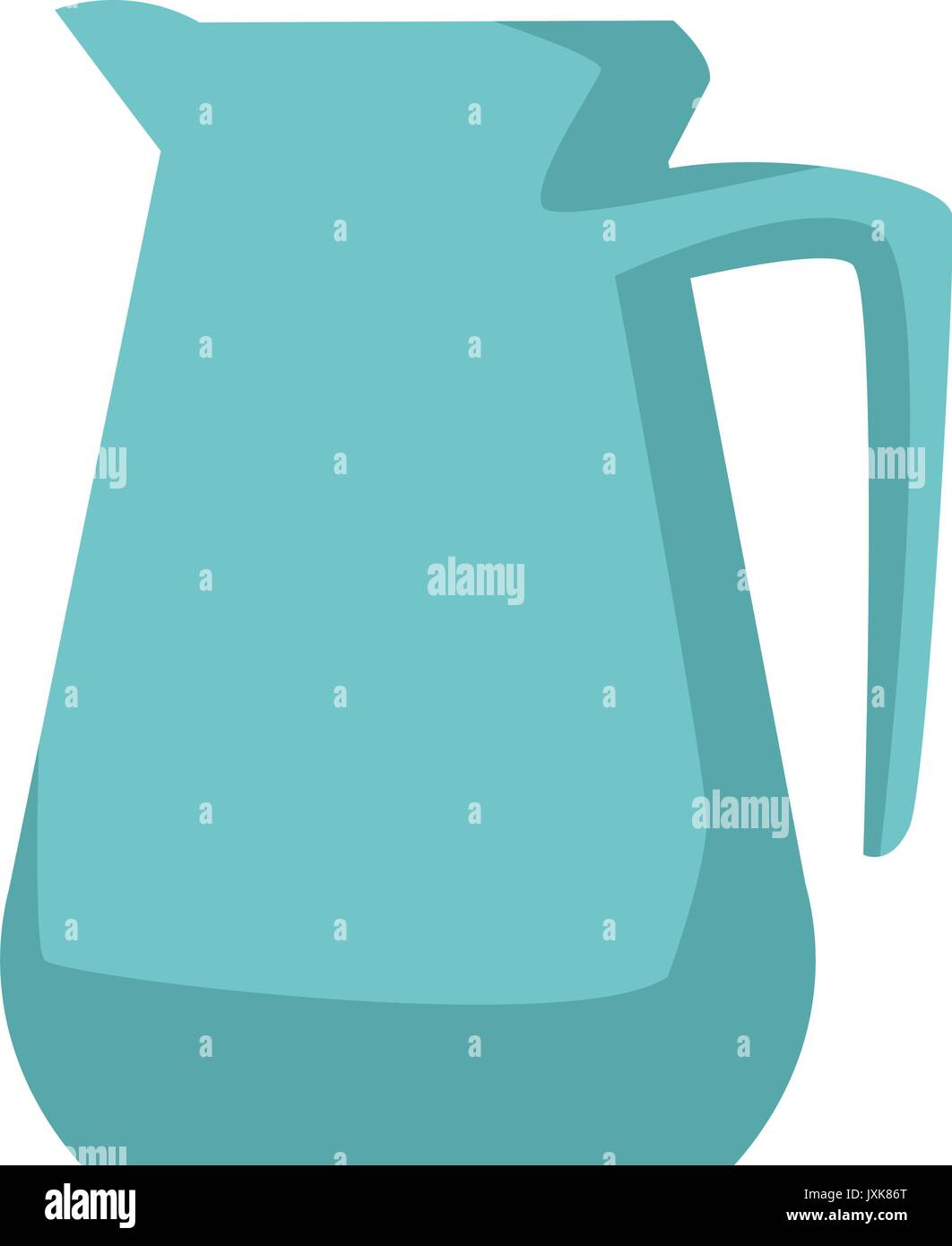 pitcher kitchenware cooking utensil handle empty - Stock Vector