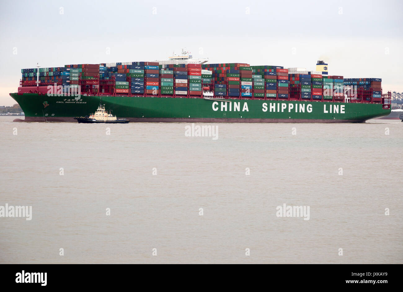 Large container ship, the Indian Ocean, of China Shipping