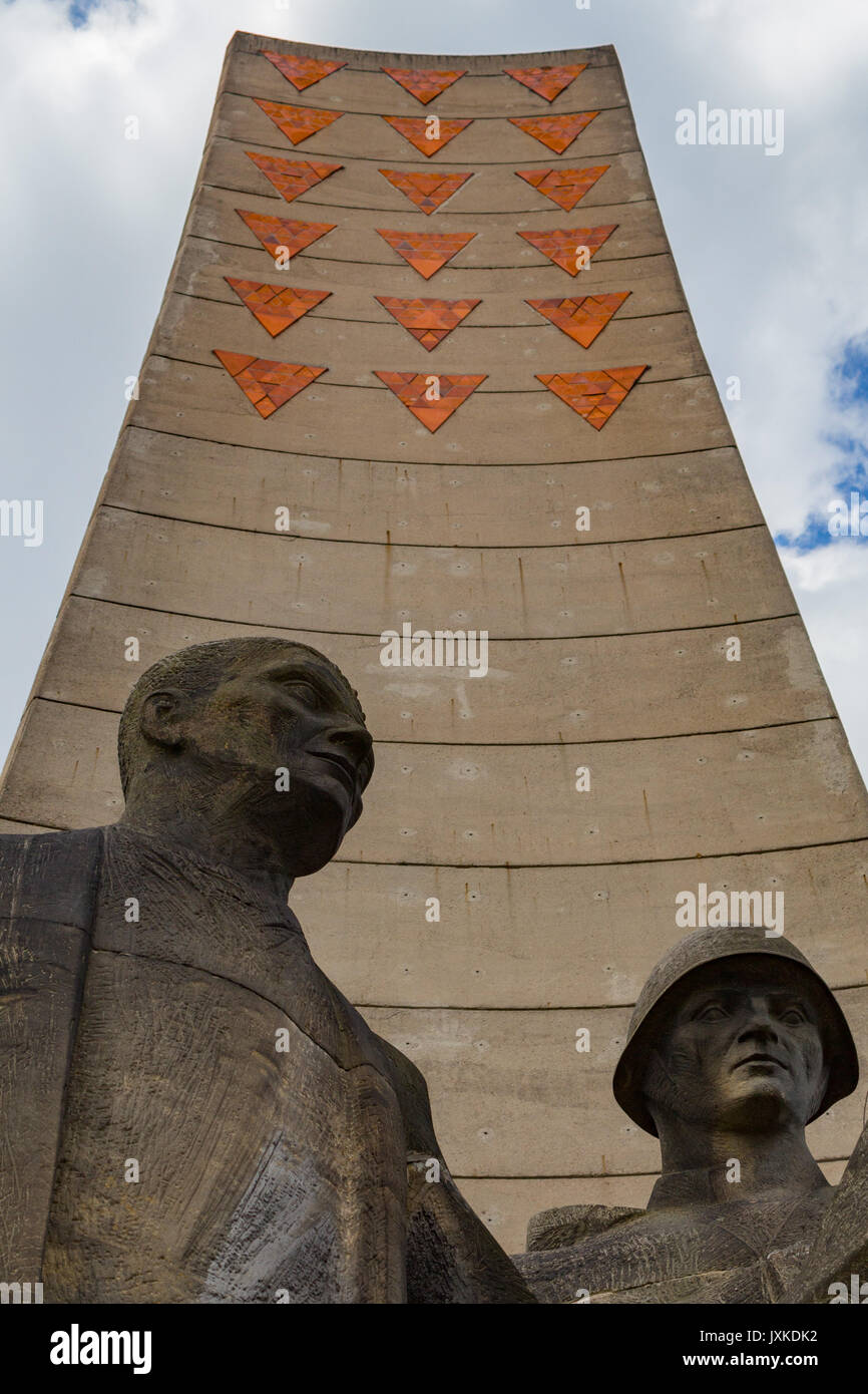 Soviet memorial at Sachsenhausen concentration camp memorial site - Stock Image
