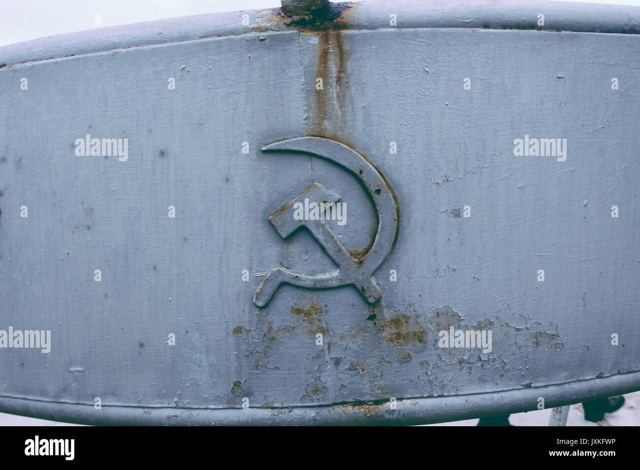 Rusted Hammer And Sickle - Stock Image