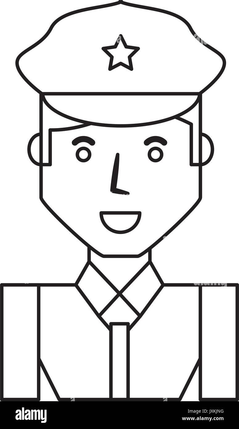 police officer cartoon stock vector art & illustration, vector image