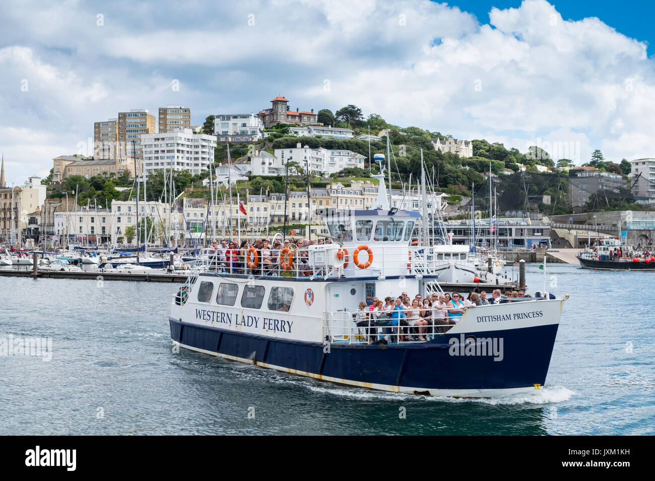 Western Lady Ferry (Torquay to Brigham Ferry) pictured Leaving Torquay Harbour, Torquay, Devon, UK - Stock Image