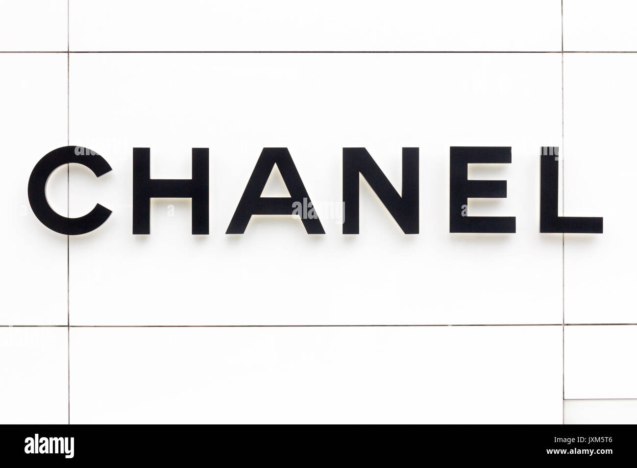 7be743ff Chanel sign outside store in the EM Quartier shopping mall, Bangkok,  Thailand - Stock