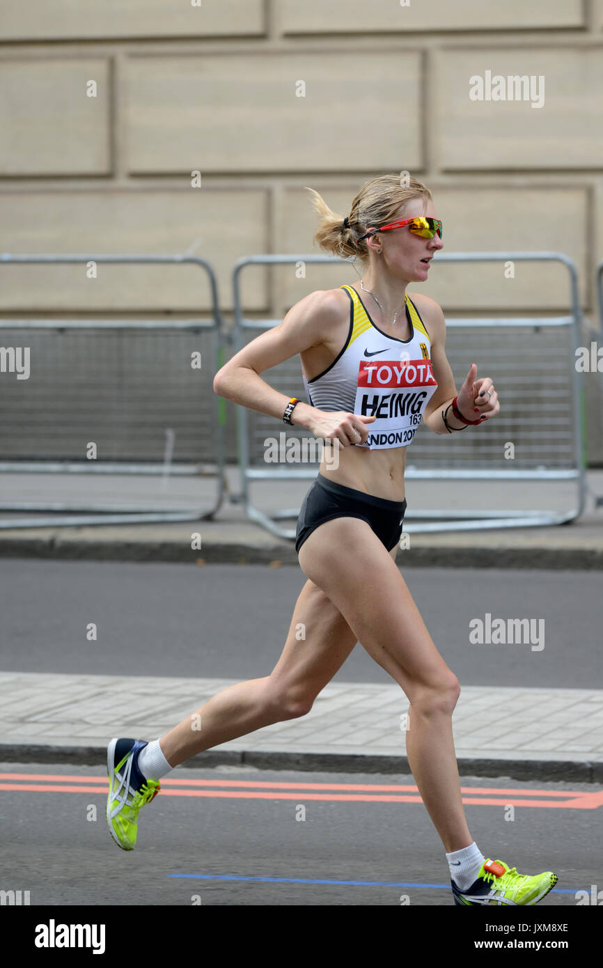 Katharina Heinig, Germany, 2017 IAAF world championship women's marathon, London, United Kingdom - Stock Image