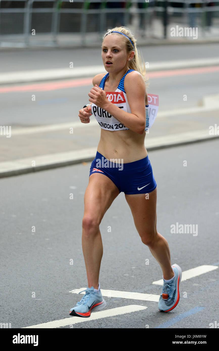 Charlotte Purdue, Great Britain & N.I., 2017 IAAF world championship women's marathon, London, United Kingdom - Stock Image
