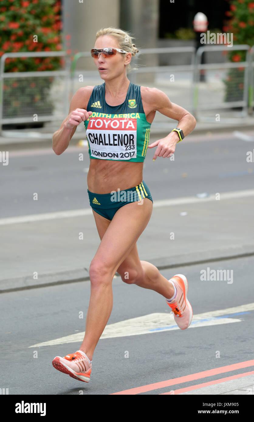 Jenna Leigh Challenor, South Africa, 2017 IAAF world championship women's marathon, London, United Kingdom - Stock Image