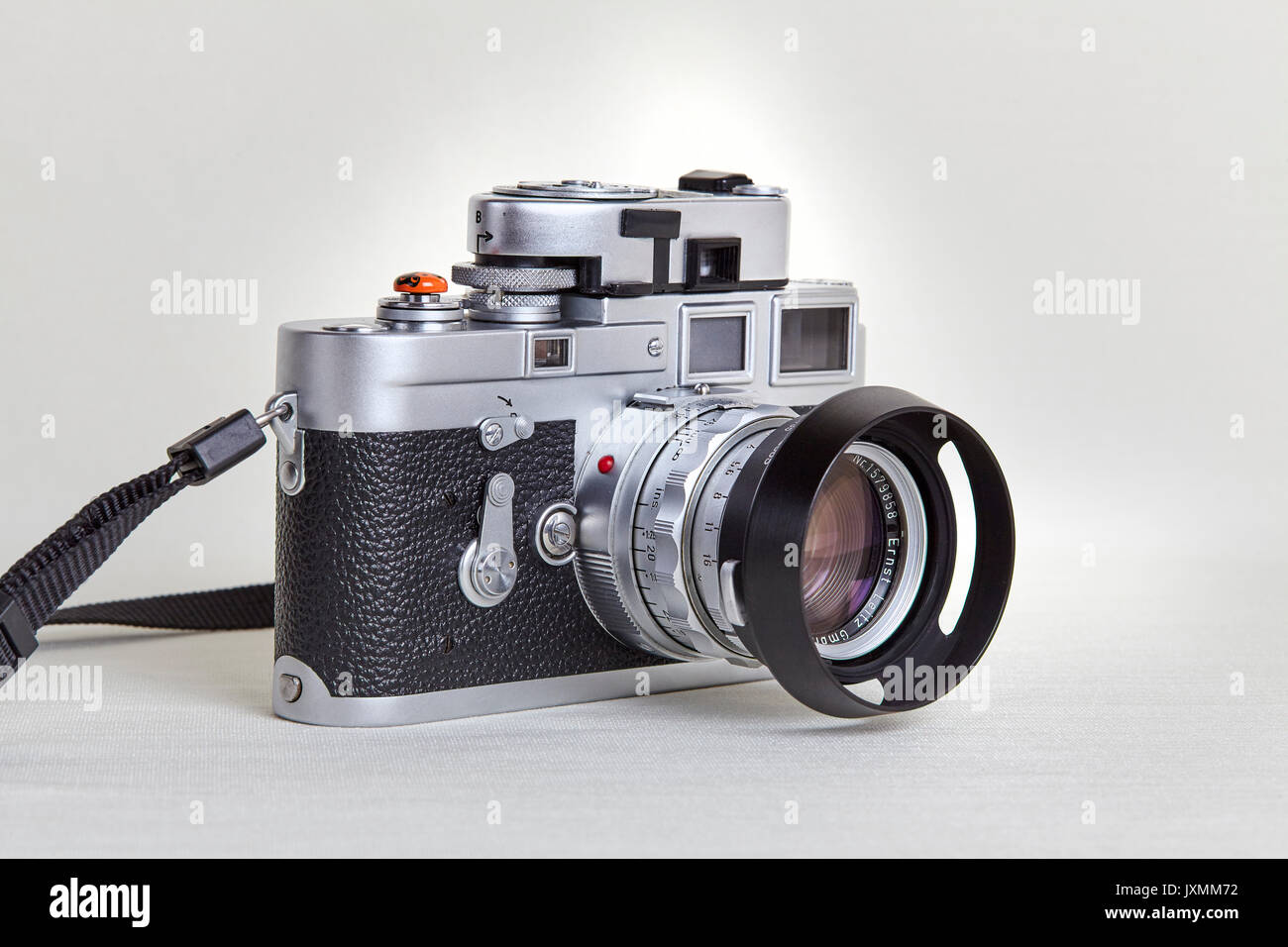 Leica M3  Classic film camera  1950's vintage Stock Photo