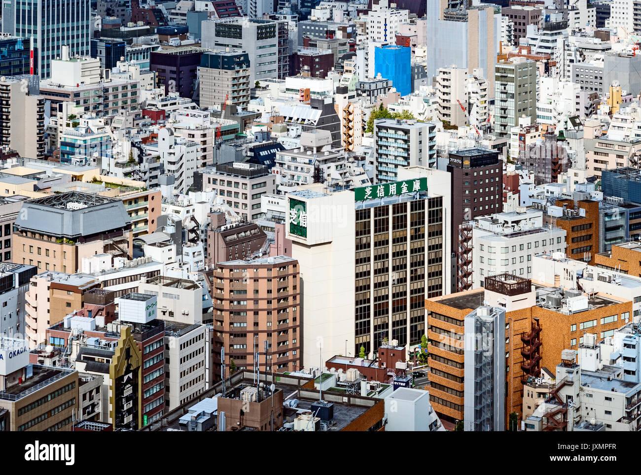 Aerial View Tokyo Japan Buildings - Stock Image