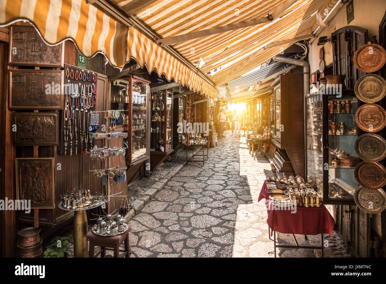 Market in the Old Town, Sarajevo, Bosnia and Herzegovina - Stock Image