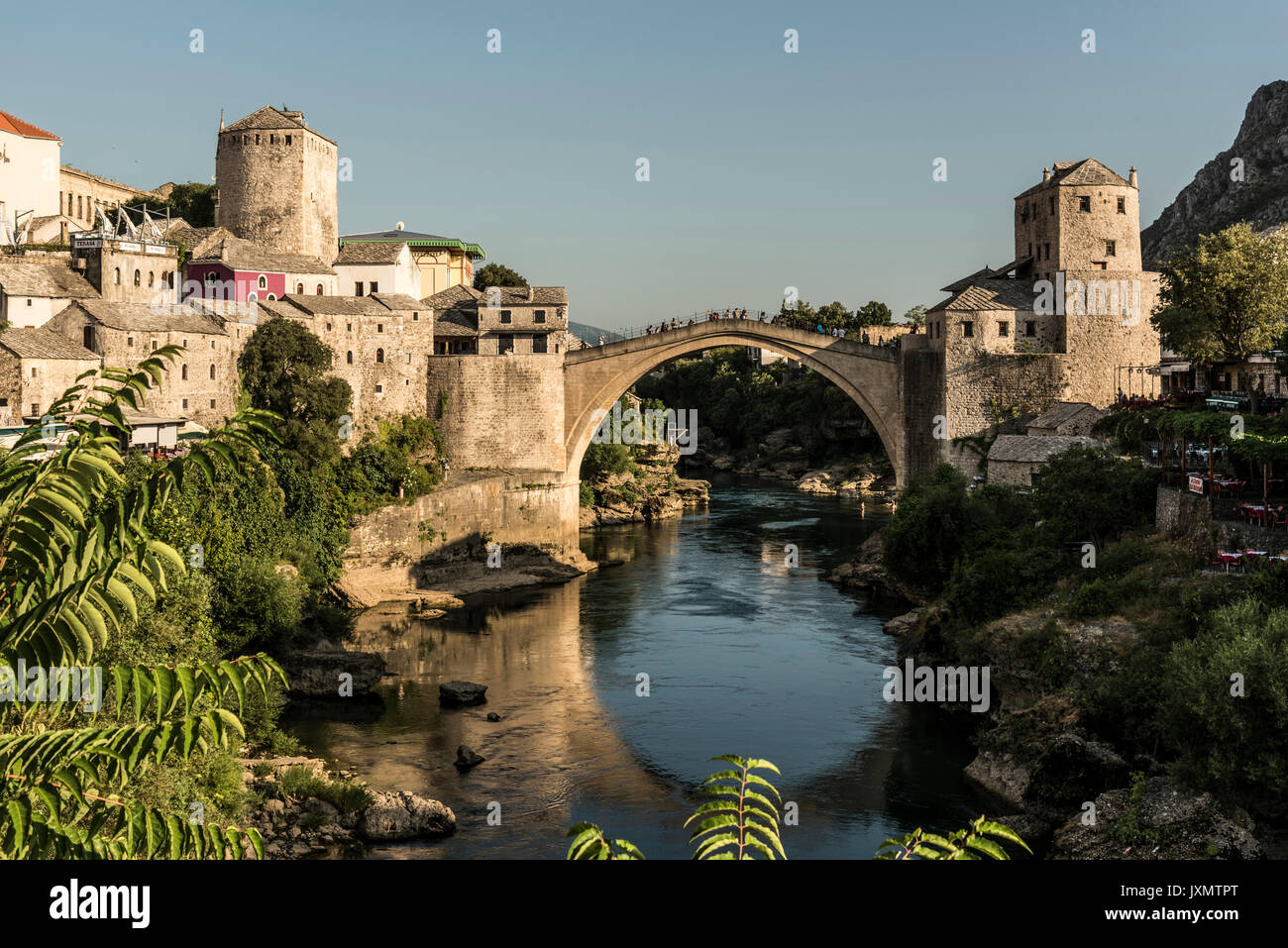 Stari Most, Mostar, Federation of Bosnia and Herzegovina, Bosnia and Herzegovina, Europe - Stock Image