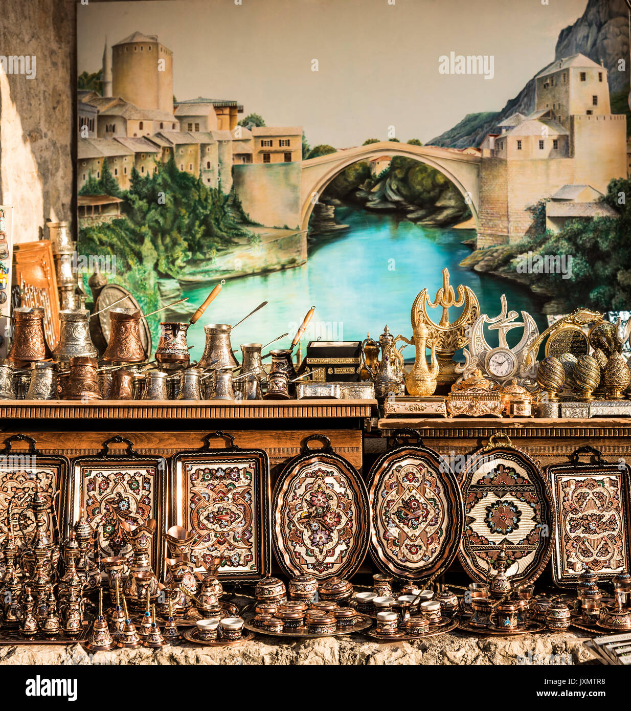 Gift shop, Mostar, Federation of Bosnia and Herzegovina, Bosnia and Herzegovina, Europe - Stock Image