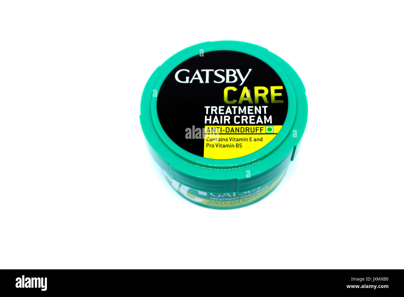 Kota Kinabalu, Malaysia - August 16, 2017: Gatsby Care Treatment  Anti Dandruff isolated on white background. GATSBY brand was born in Japan in 1978. - Stock Image