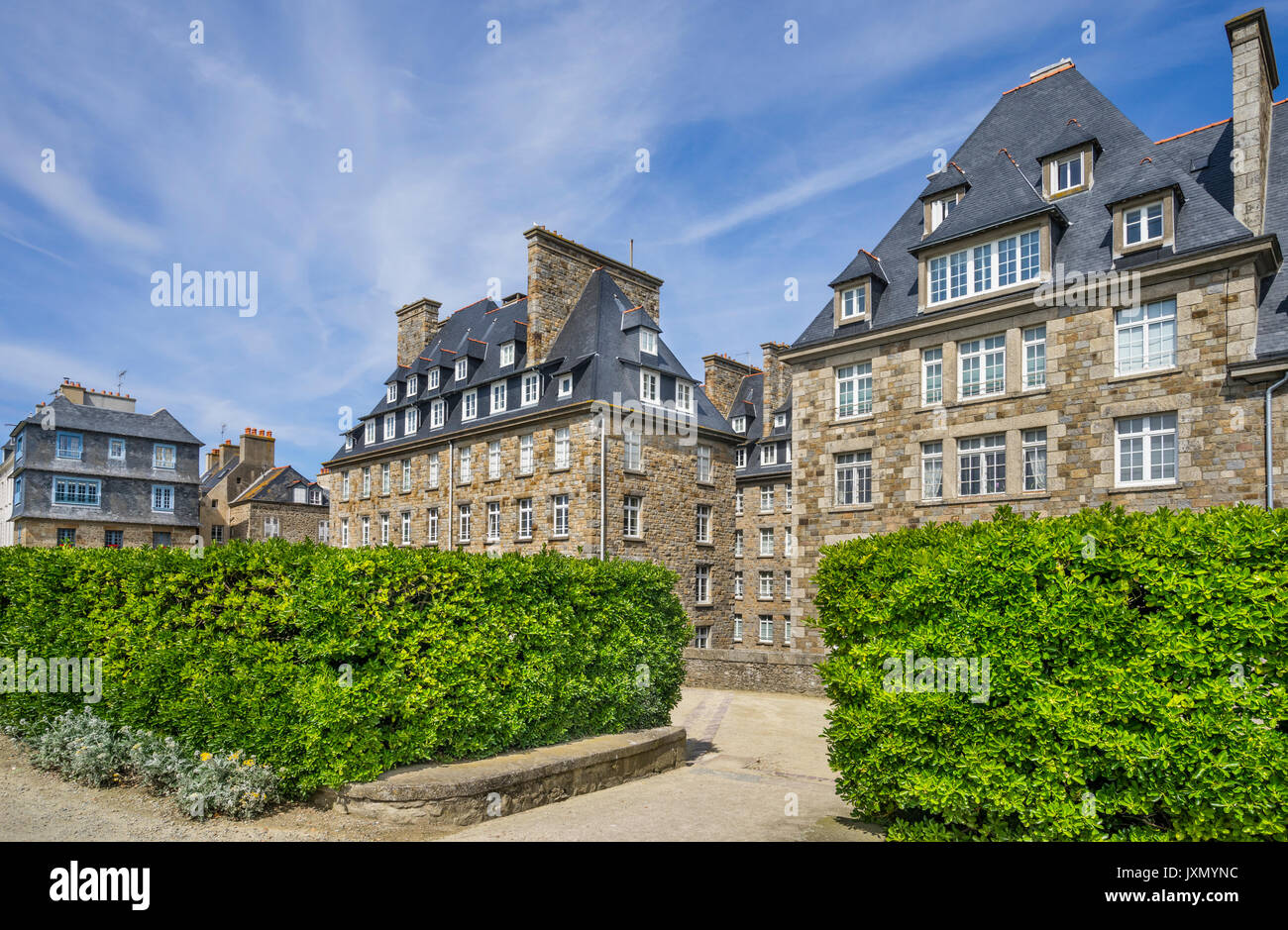 France, Brittany, Saint-Malo, Park at Bastion de la Hollande - Stock Image