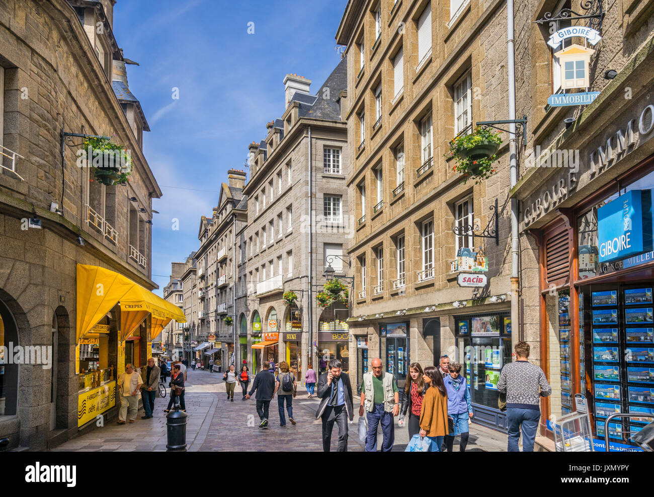 France, Brittany, Saint-Malo, Intra Muros, view of Rue Porcon de la Stock  Photo - Alamy