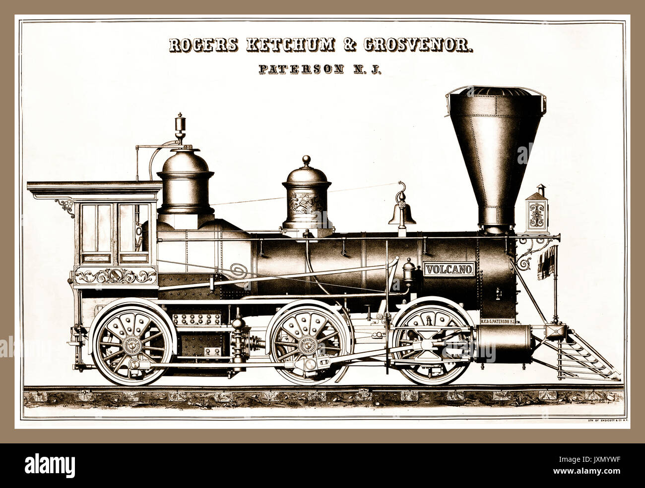 Steam Locomotive 1800s Stock Photos & Steam Locomotive 1800s Stock