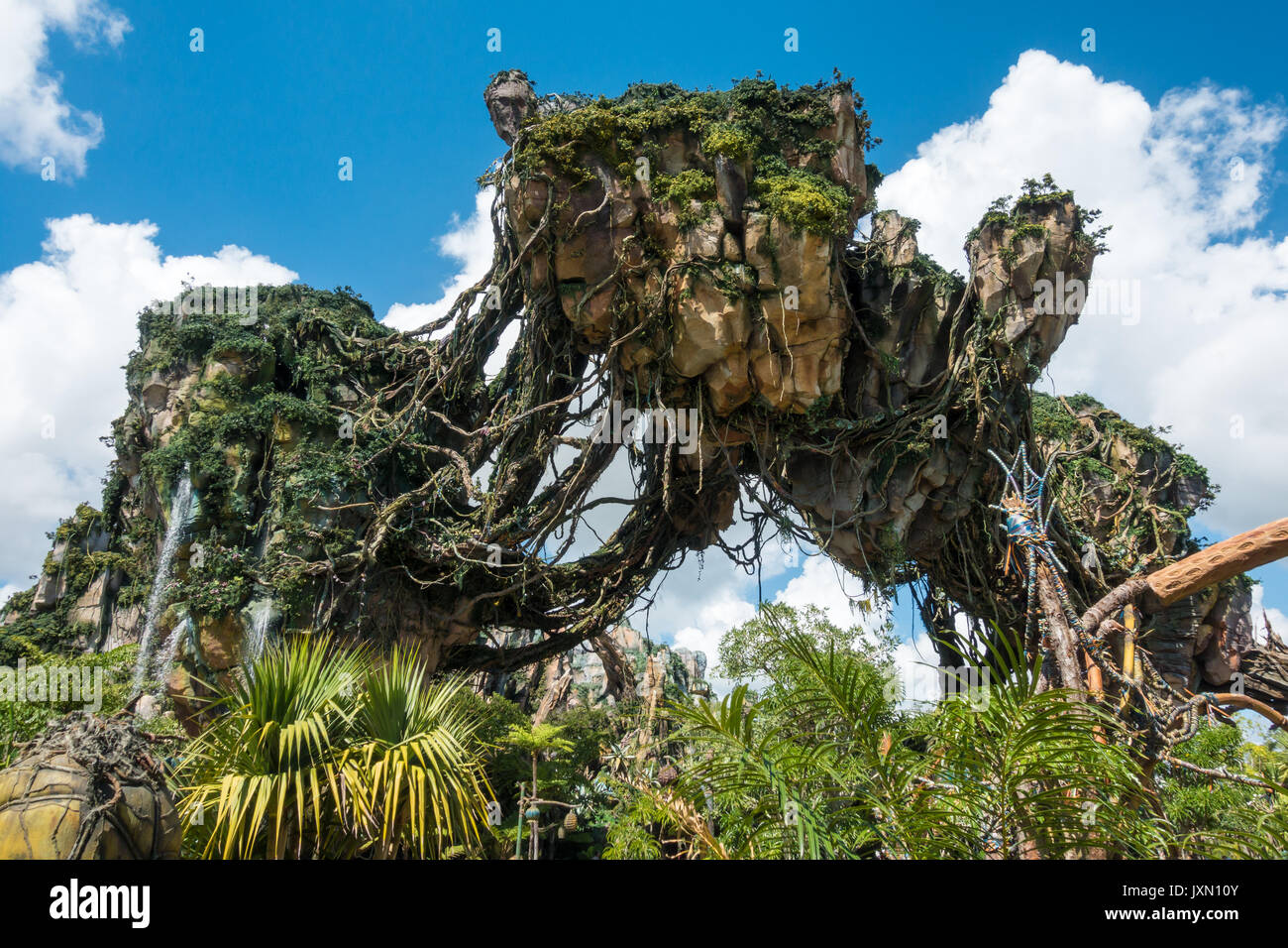Floating Mountains in Pandora, Avatar Land, Animal Kingdom, Walt Disney World, Orlando, Florida. - Stock Image