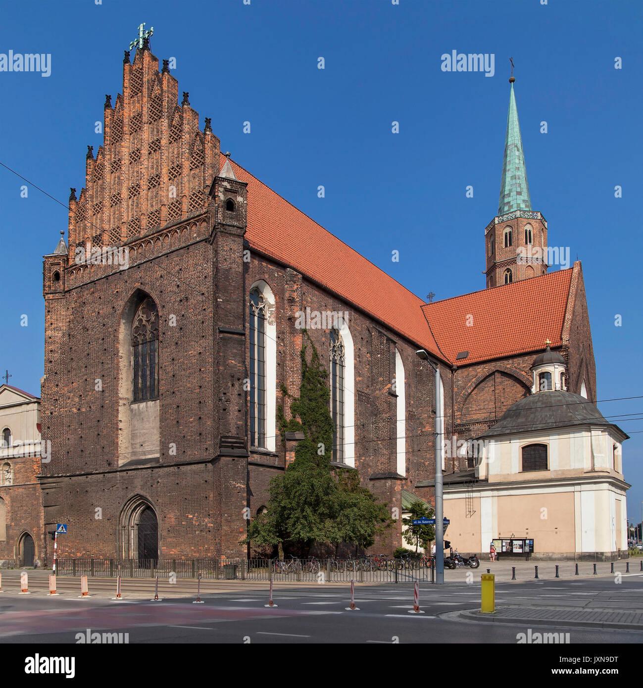 Church of Saint Adalbert in Wroclaw, Poland. Stock Photo