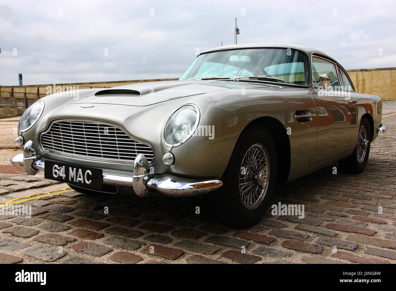 Classic Cars And Camper Vans Including An Aston Martin Db5 First Stock Photo Alamy