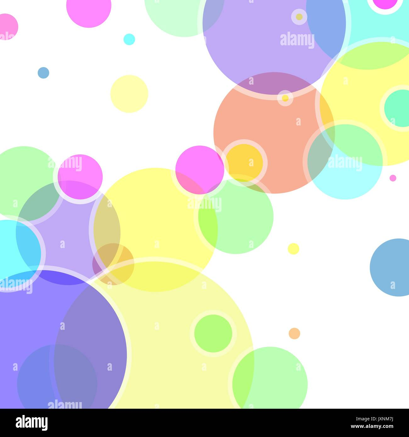 Abstract vector with colorful bubble elements - Stock Image